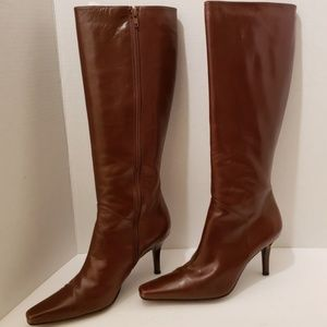 Stuart Weitzman Tall Brown Leather Boots 8 Wide